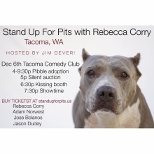 Stand Up For Pits Tacoma WA is coming up!!!