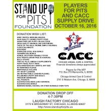 SUFP Foundation Donation Drive is coming to CHICAGO!
